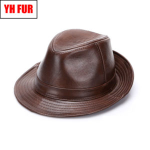 2019 Men Real Genuine Cowhide Leather Cowboy Hats Fashion New Style Real Natural Leather Cap Hat Sale Real Cowhide Leather Caps