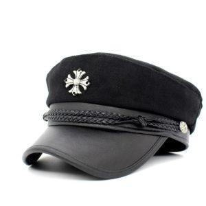 2018 Hats For Women Octagonal Cap Button Baseball Caps Fashion  Men Sun Visor Hat Gorras Casquette Touca Black Casual Peaked