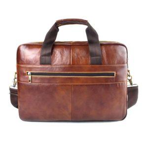 AETOO Genuine Leather genuine leather laptop bag Handbags Cowhide Men Crossbody Bag Men's Travel brown leather briefcase
