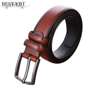 RAINIE SEAN Men Leather Belt Punk Rivet Vintage Pin Buckle Casual Male Belt For Trousers Black White Brown Belt For Men Jeans