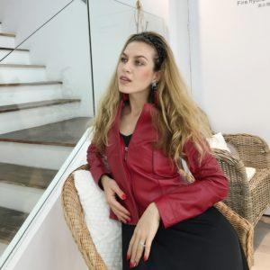 EIFURKOP 100% Genuine Leather Jacket Women Slim Real Sheepskin Leather Coat Zipper