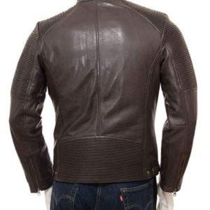 Brown Leather Jackets Bikers Motorcycle for Men New Distressed Real Slim Vintage
