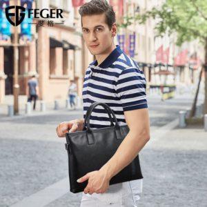 FEGER 2019 new arrival men's handbag , men business bag , leisure bag