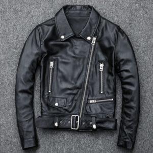 Free shipping,Genuine leather woman slim leather jacket.femme fashion motor sheepskin jacket,plus size leather coat,hot sales