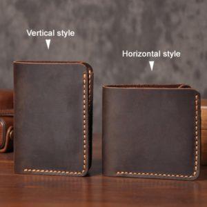 Handmade Vintage Crazy horse Genuine Leather Wallet Men Wallet Leather Men Purse Clutch Bag Male purse Money Clips Money bag
