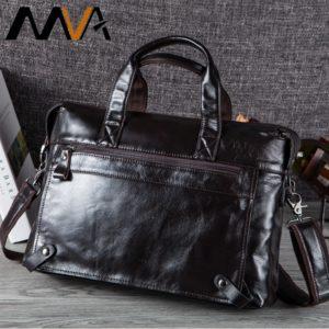MVA Men Briefcases Genuine Leather Bags Men Briefcase Handbags Office Bags For Men's Bag Leather Laptop Bag Business Briefcases