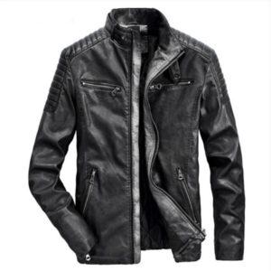 Male Winter Warm Casual Fashion Jacket Coat Genuine Leather  Jacket  Men  Motorcycles Vintage Brown Black Parka Cool  Slim