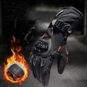 Motocycle Gloves Winter Leather Thermal Anti-slip & Anti-collision Biker Motorbike Motorcycle Waterproof Glove guantes moto