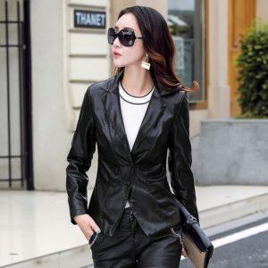 SWYIVY Genuine Leather Jacket Coat Woman Slim Short Design 2019 Autumn Winter Female Col Motorcycel Jacket Outwear Coat XXXXXL