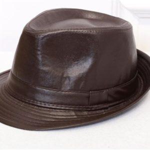 Unisex charm cowboy hats leather american, winter ladies vintage black hats for women fedora M0209