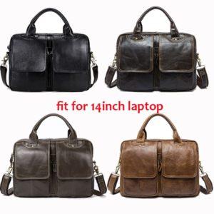 WESTAL Men's Bag Genuine Leather Men's Shoulder Bags Male Leather Laptop Briefcase Messenger/Crossbody Bags for Men Handbag 8002